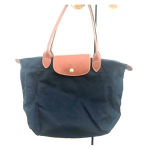 Medium Navy Longchamp Tote